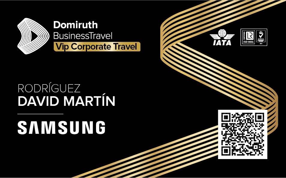 TARJETA EXCLUSIVA DOMIRUTH BUSINESS TRAVEL
