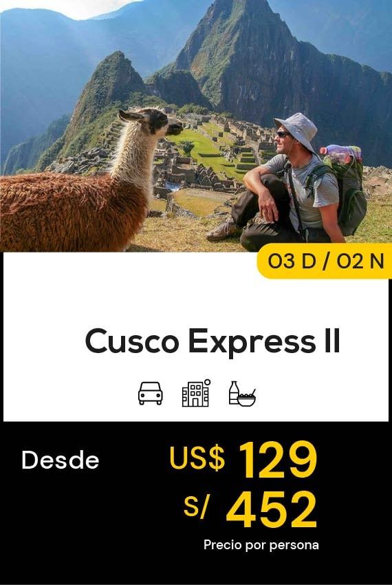 CUSCO EXPRESS II DOMIRUTH TRAVEL SALE