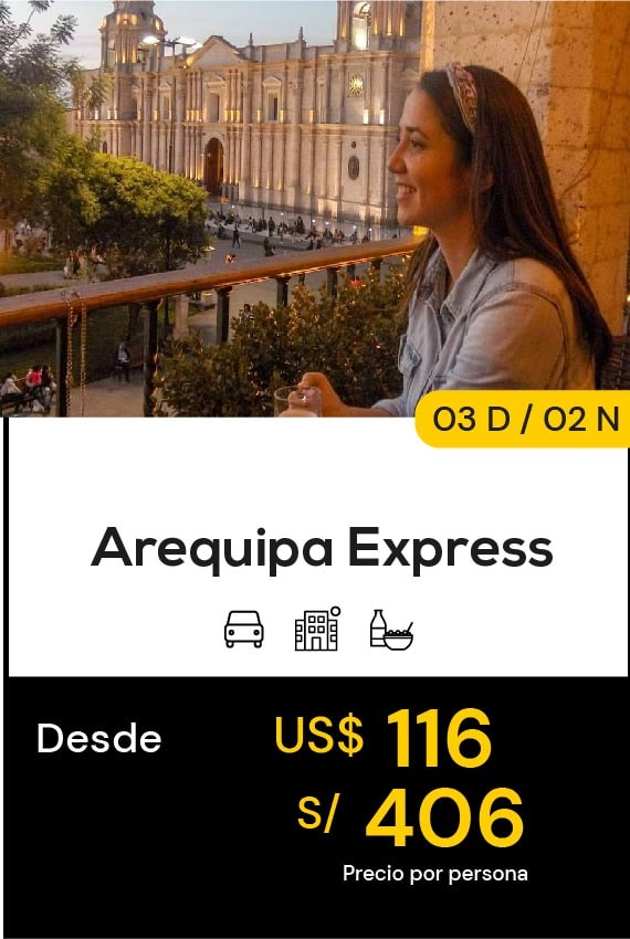 AREQUPA EXPRESS DOMIRUTH TRAVEL SALE