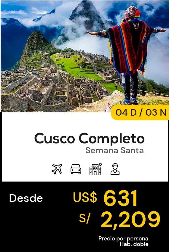 CUSCO COMPLETO SEMANA DOMIRUTH TRAVEL SALE