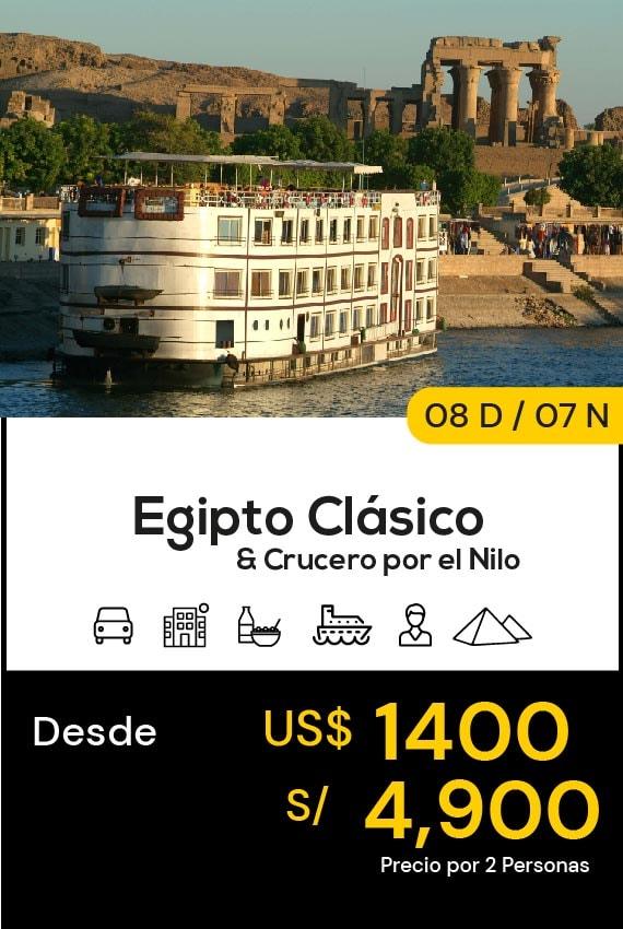 EGIPTO CLÁSICO Y CRUCERO POR EL NILO DOMIRUTH TRAVEL SALE