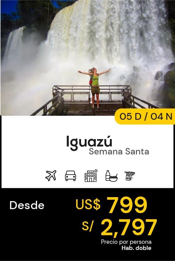 IGUAZÚ SEMANA SANTA DOMIRUTH TRAVEL SALE