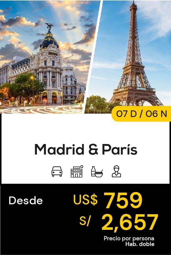 MADRID Y PARÍS EUROPA TRAVEL SALE