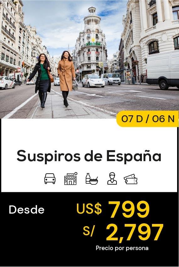 SUSPIROS DE ESPAÑA DOMIRUTH TRAVEL SALE