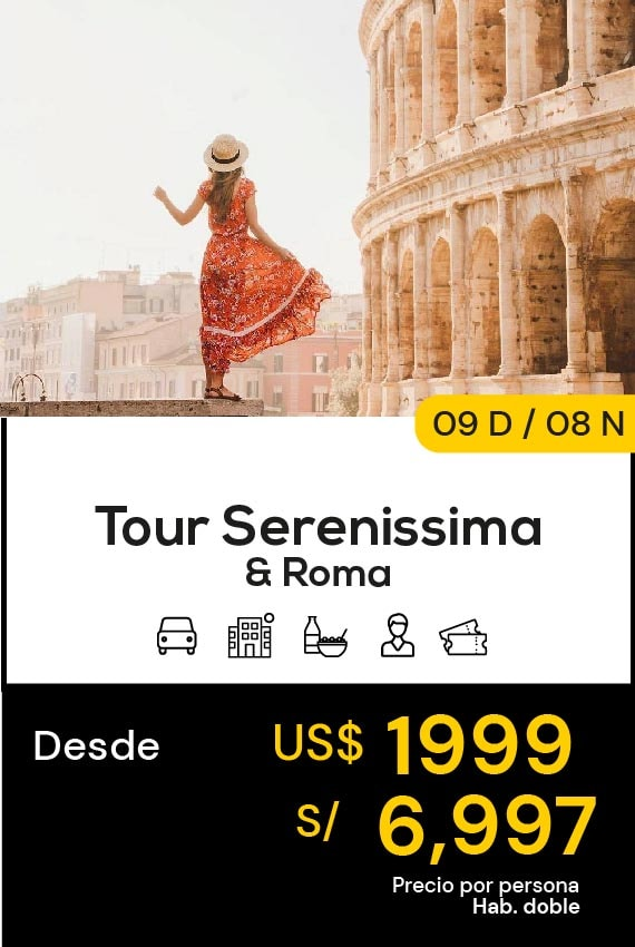 TOUR SERENISSIMA Y ROMA DOMIRUTH TRAVEL SALE
